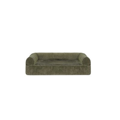 Faux Fur and Velvet Memory Top Dog Sofa Size: Small (20 W x 15 D x 6 H), Color: Dark Sage