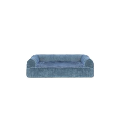 Faux Fur and Velvet Memory Top Dog Sofa Size: Small (20 W x 15 D x 6 H), Color: Harbor Blue