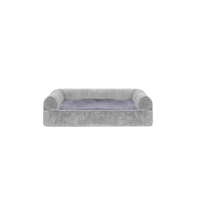 Faux Fur and Velvet Memory Top Dog Sofa Size: Small (20 W x 15 D x 6 H), Color: Smoke Gray