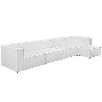 Chaudhry Sectional Upholstery: White