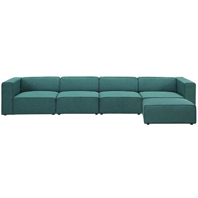 Chaudhry Sectional Upholstery: Teal