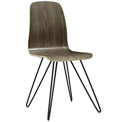 Lapine Solid Wood Dining Chair Color: Walnut