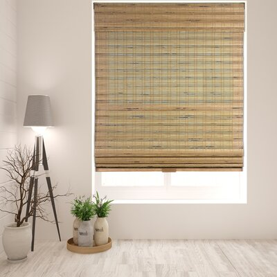 Aymeric Semi-Sheer Brown Roman Shade Blind Size: 34 W x 60 L