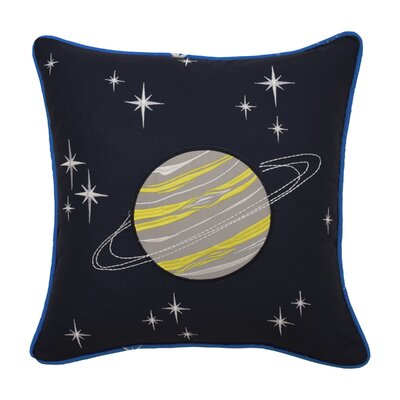 Space Adventure Embroidered Throw Pillow