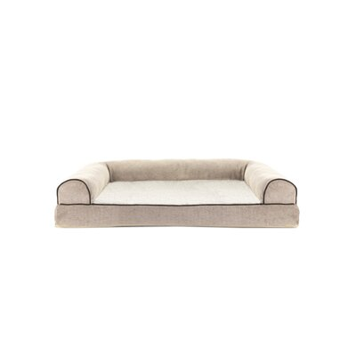 Faux Fleece and Chenille Soft Woven Memory Top Dog Sofa Size: Large (36 W x 27 D x 8 H), Color: Cream