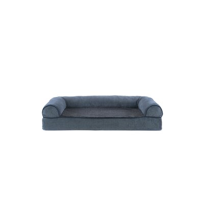 Faux Fleece and Chenille Soft Woven Memory Top Dog Sofa Size: Medium (30 W x 20 D x 7 H), Color: Orion Blue