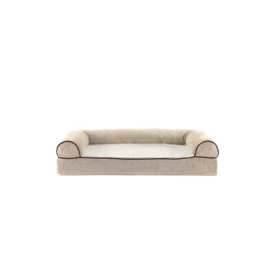 Faux Fleece and Chenille Soft Woven Memory Top Dog Sofa Size: Medium (30 W x 20 D x 7 H), Color: Cream