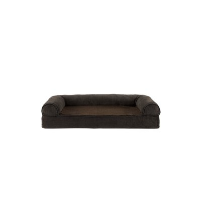 Faux Fleece and Chenille Soft Woven Memory Top Dog Sofa Size: Medium (30 W x 20 D x 7 H), Color: Coffee