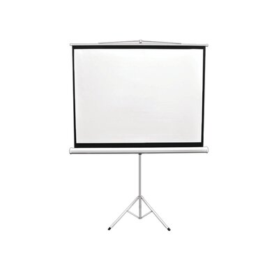 Floor-Standing Tripod White 84 Portable Projector Screen