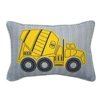 Under Construction Oblong Embroidered Lumbar Pillow