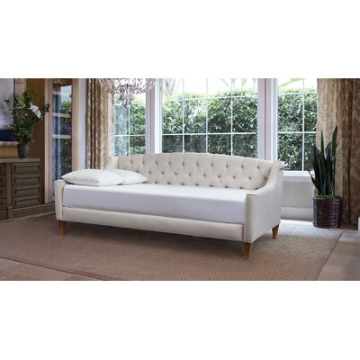 Maeve Upholstered Daybed Color: Sky Neutra