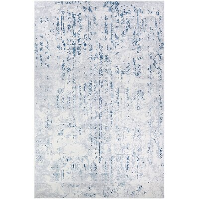 Jakes Steel Blue/Ivory Area Rug Rug Size: Rectangle 2 x 3