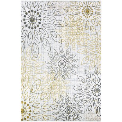 Jakes Gold/Silver Area Rug Rug Size: Rectangle 92 x 125