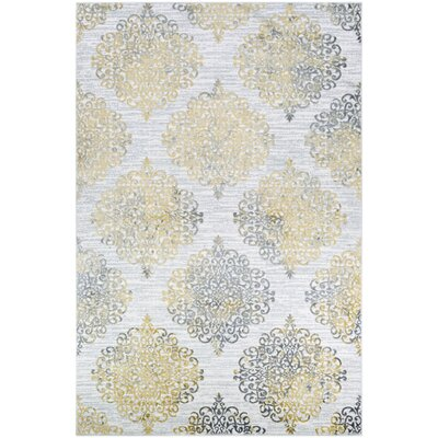 Jakes Gold/Silver Area Rug Rug Size: Rectangle 2 x 3