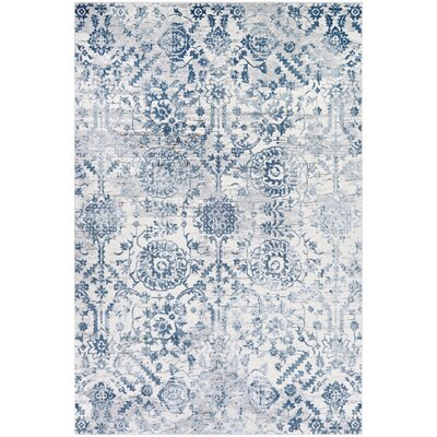 Jakes Steel Blue Area Rug Rug Size: Rectangle 33 x 53