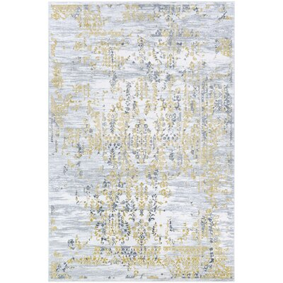 Jakes Gold/Silver Area Rug Rug Size: Rectangle 33 x 53