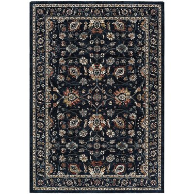 Grimaldo Navy Area Rug Rug Size: Rectangle 33 x 53