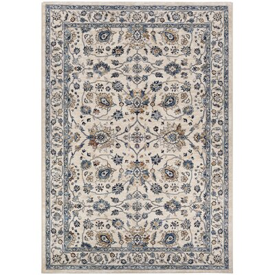Grimaldo Antique Cream/Slate Area Rug Rug Size: Runner 23 x 77