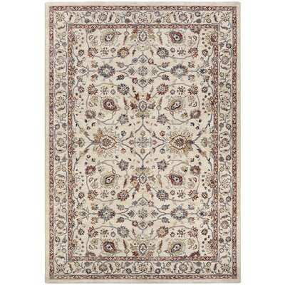 Grimaldo Beige Area Rug Rug Size: Rectangle 53 x 76