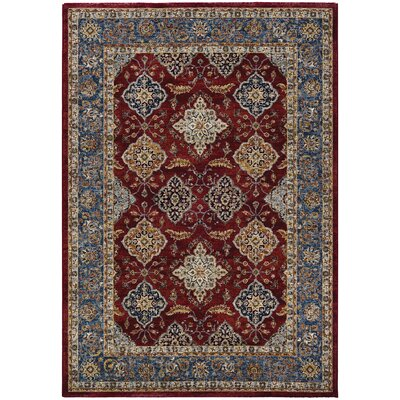 Grimaldo Bordeaux/Slate Runner Rug Rug Size: Rectangle 33 x 53