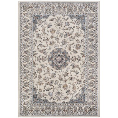 Grimaldo Medallion Antique Cream Area Rug Rug Size: Rectangle 710 x 112