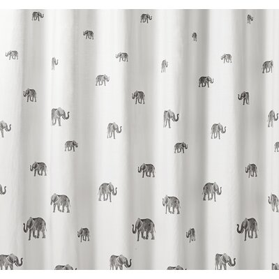 Berkman Elephant Cotton Shower Curtain
