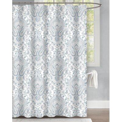 Bengtson Damask Blooms Cotton Shower Curtain