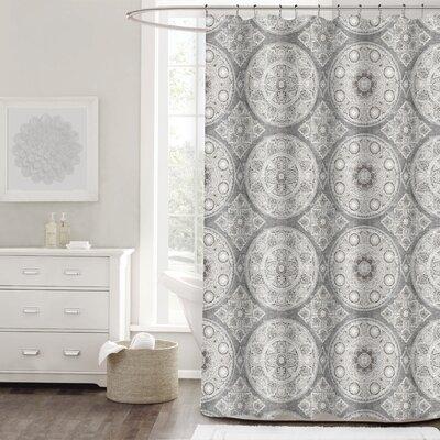 Berke Medallion Cotton Shower Curtain