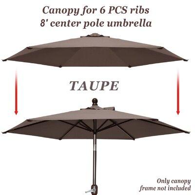 Celine Umbrella Canopy 6 Rib Top Outdoor Patio Replacement Cover FRPK2108 45430859