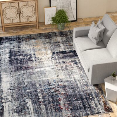 Foresta Black/White Area Rug Rug Size: Square 7