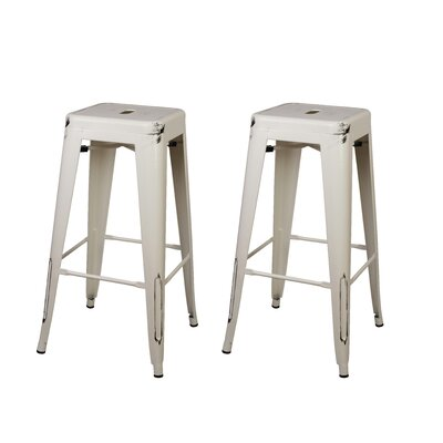 Armina 30 Bar Stool Color: Antique White