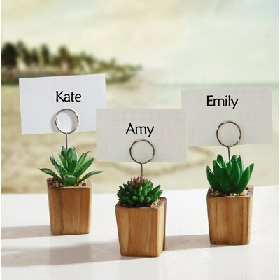 Succulents in Pot Place Card Holder
