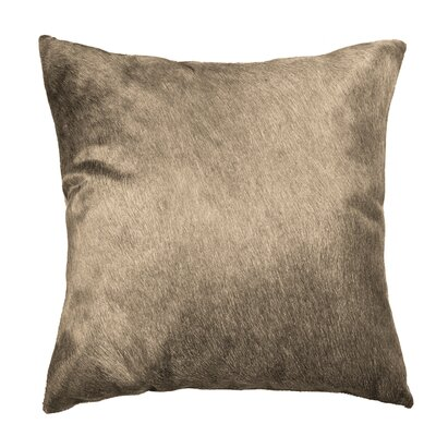 Ruddell Leather Cowhide Throw Pillow Color: Taupe