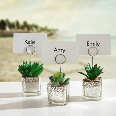 Succulents in Pot Table Place Card Holder LTTN5361 45520230
