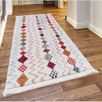 Rheba White Area Rug Rug Size: Rectangle 23x 72