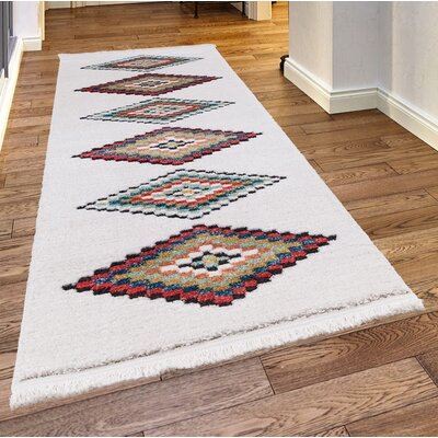 Rheba White Area Rug Rug Size: Rectangle 39 x 52