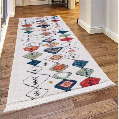 Rheba White Area Rug Rug Size: Rectangle 7'8
