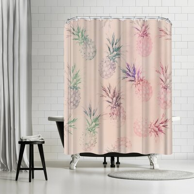 Lebens Art Pineapple Pastel Shower Curtain