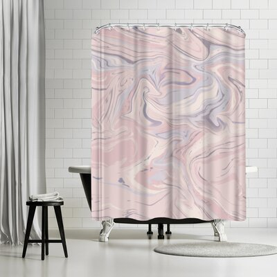 Lebens Art Marble Master Shower Curtain