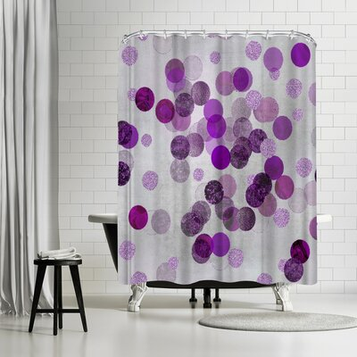 Lebens Art Shimmering Dots Shower Curtain