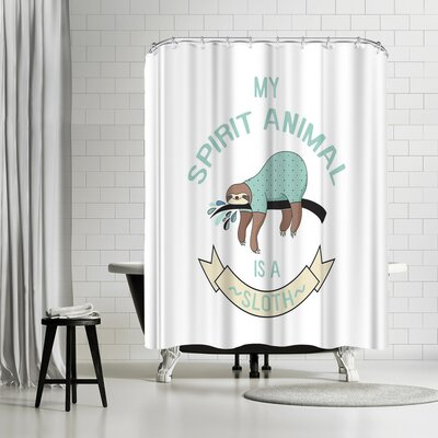 Lebens Art Sloth Spirit Animal Kopie Shower Curtain