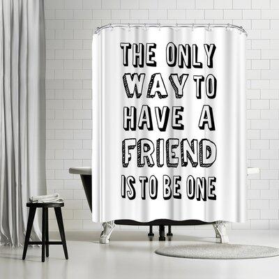 Lebens Art Sprache Shower Curtain