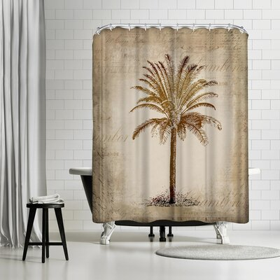 Lebens Art Vintage Palm Shower Curtain