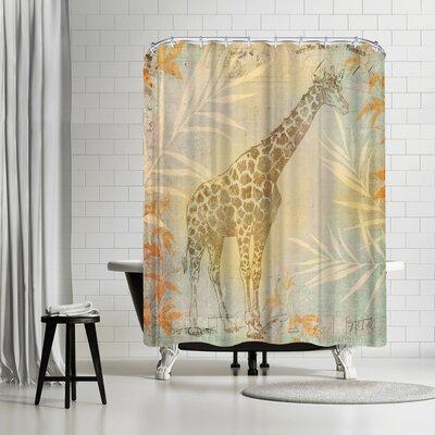 Lebens Art Vintage Animal Shower Curtain
