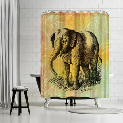 Lebens Art Vintage Animal Shower Curtain