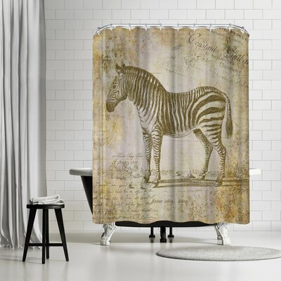 Lebens Art Zebra Vintage Shower Curtain