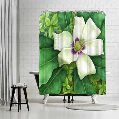 Three Mac Studio Magnolia Shower Curtain