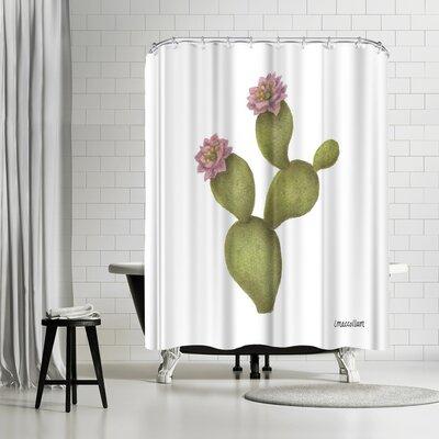 Three Mac Studio Prickly Pear Shower Curtain