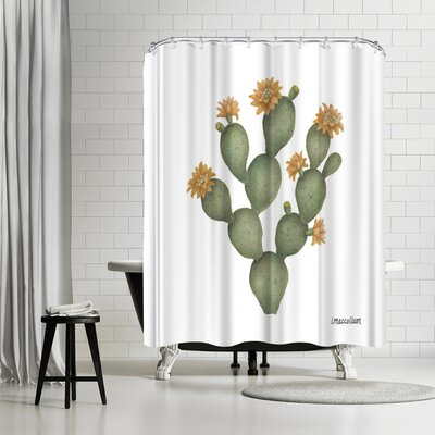 Three Mac Studio Prickly Pear Shower Curtain