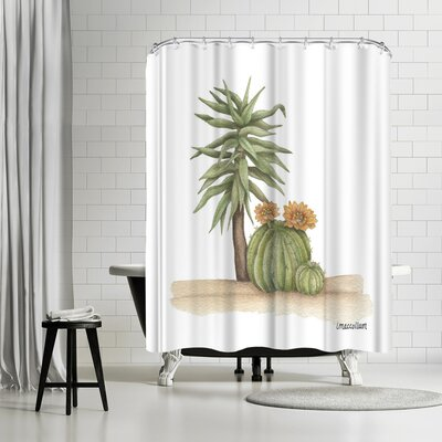 Three Mac Studio Yucca Cacti Shower Curtain